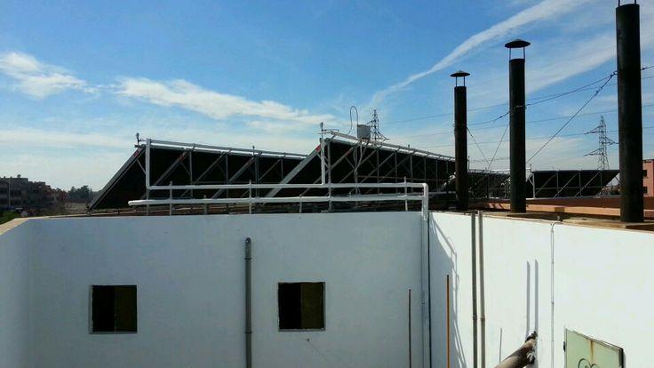 Solar panels to heat a hammam