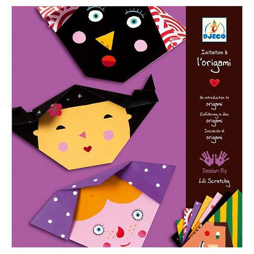 The Origami Faces offers a simple step by step approach for young beginners being introduced to origami. Each of the 12 sheets of paper is beautifully designed and have clearly marked lines that show