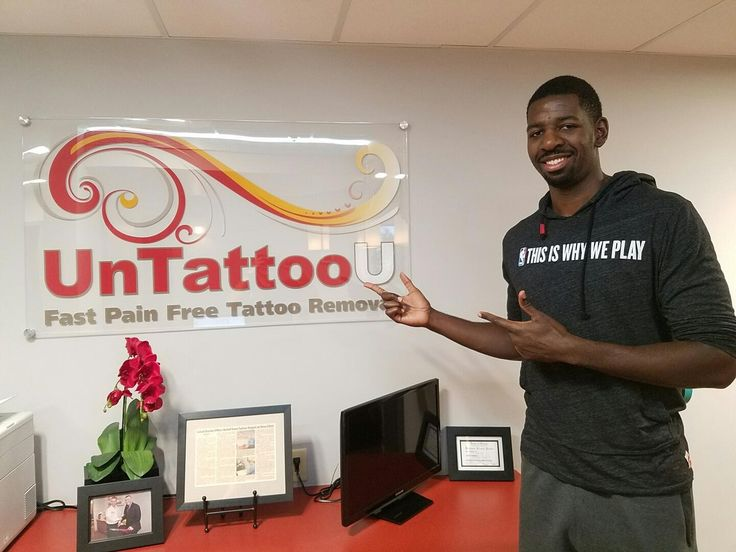 Andrew Nicholson of the #WashingtonWizards stopped by UnTattooU the other day for #TattooRemoval! Thanks for choosing #UnTattooU!