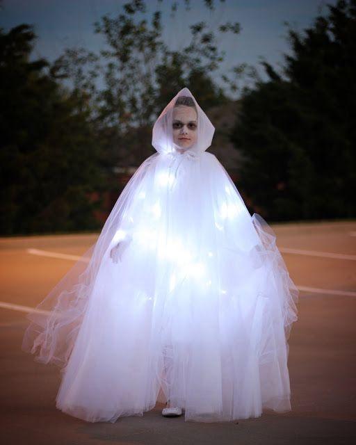 Glowing Ghost Halloween Costume- Kinzie Sue Designs & Kreations