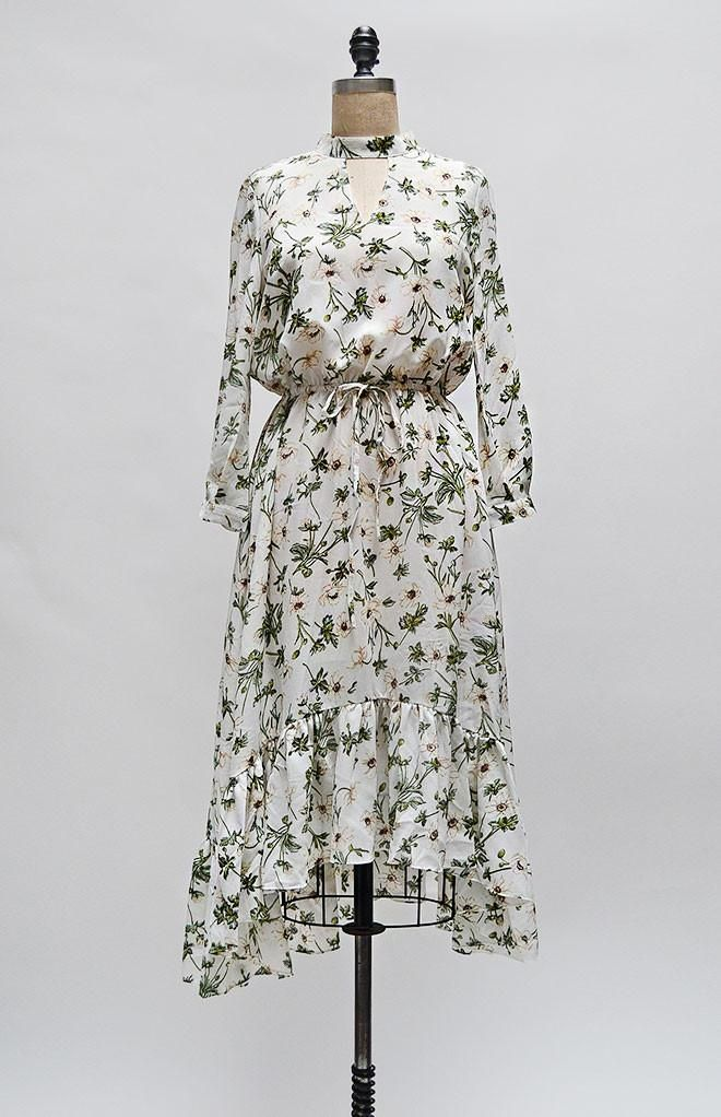 Alder Groves Dress / feminine floral dress / vintage modern dress