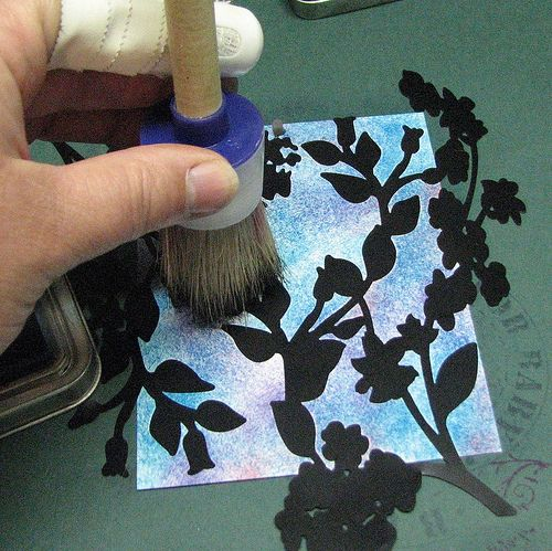 Roni Johnson: Ink Stains. Stipple Brush & Masks