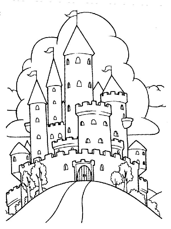 54 best Castles Dragons Knights Coloring Pages images on Pinterest