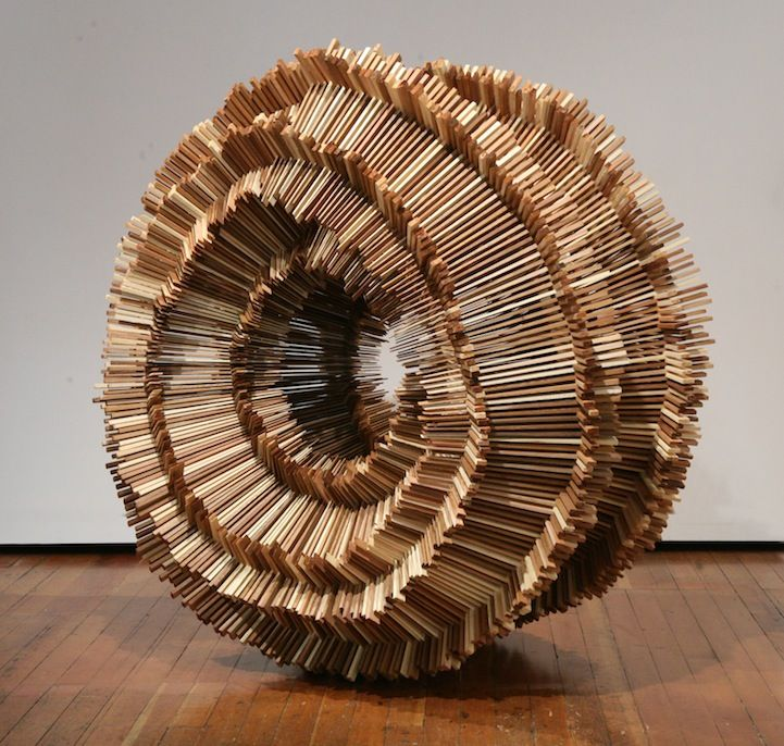Hundreds of Pieces of Stacked Wood Form Beautifully Organic Sculptures by Ben Butler.  http://www.benbutlerart.com/sculpture