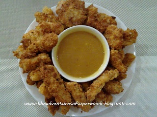 Fried Cream Dory Fillet with Honey-Mayo Sauce