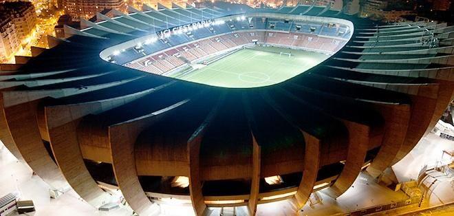 Parque De Los Principes, París, Francia.  SuperficieCésped Dimensiones105 x 68 m Capacidad48.712 espectadores  Construcción Apertura18 de julio de 1897 Remodelación1932 y 1972  Equipo local Paris Saint-Germain
