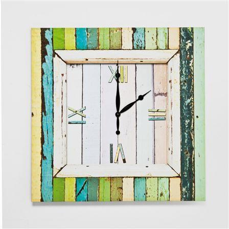 No Tresspassing Wall Clock, Greens - Achica