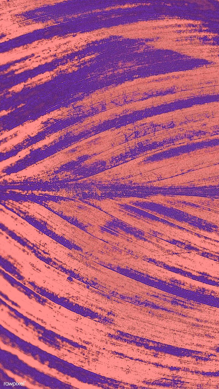 Download premium illustration of Detailed red leaf textured mobile phone