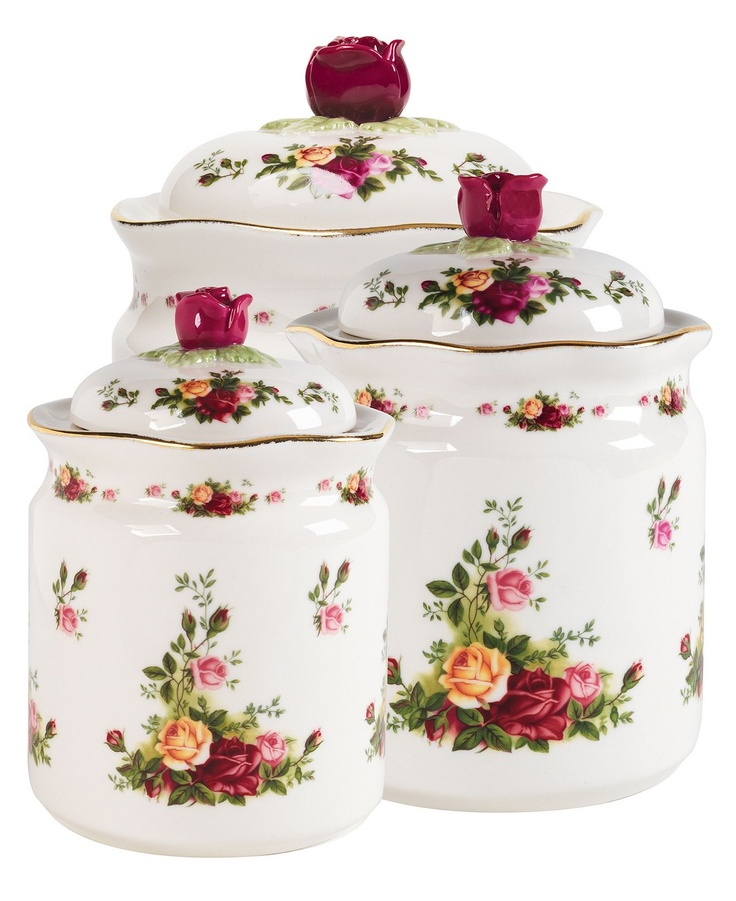 1000 ideas about vintage canisters on pinterest for Kitchen set aluminium royal