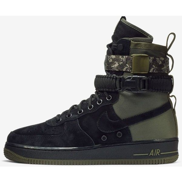 Nike SF Air Force 1 Men's Boot. Nike.com ($180) ❤ liked on Polyvore featuring men's fashion, men's shoes, men's boots, mens boots, mens shoes, nike mens shoes and nike mens boots