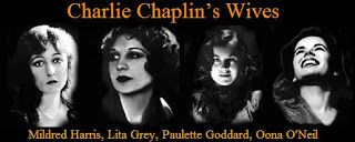 His 4 wives: Mildred Harris 1918-1920 Lita Grey 1924- 1927 Paulette Goddard 1936 - 1942 Oona O'Neil - 1943 - 1977 (until his death) He also had 11 children