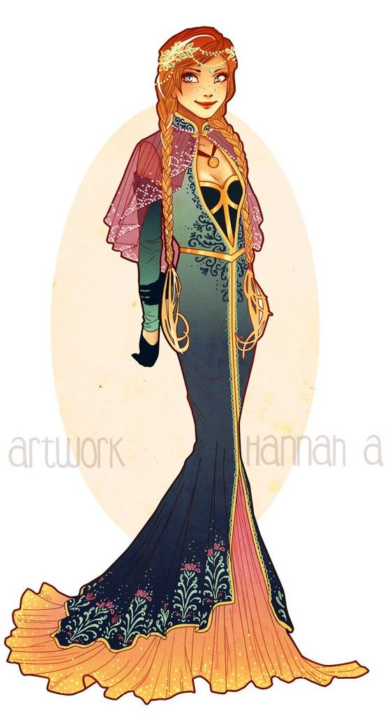 Art Nouveau Costume Designs VII: Anna by Hannah Alexander  #disneyprincess #disneyprincesspics #disney
