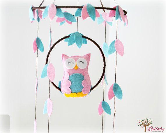 Woodland Owl baby mobile nursery decor You by LullabyMobiles