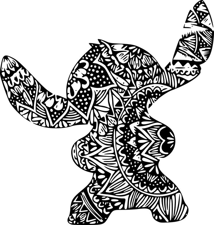 SVGS for Geeks! Stitch coloring pages, Zentangle