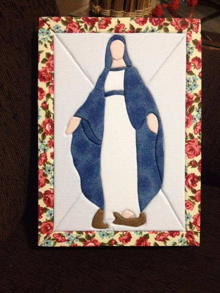 caixa em patch embutido Nossa Senhora das Graças da Bel Borin de Castro