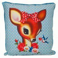 Deer head cotton cushion