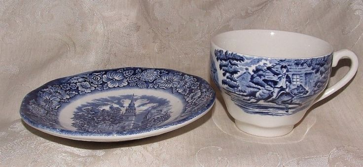 Liberty Blue Cup u0026 Saucer & The 12 best Liberty Blue Dinnerware images on Pinterest | Blue ...