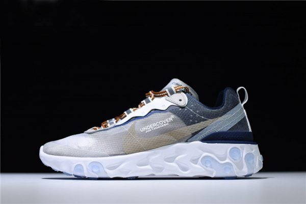 e479a6942654 2018 New Undercover x Nike React Element 87 White Cream Blue AQ1813-343