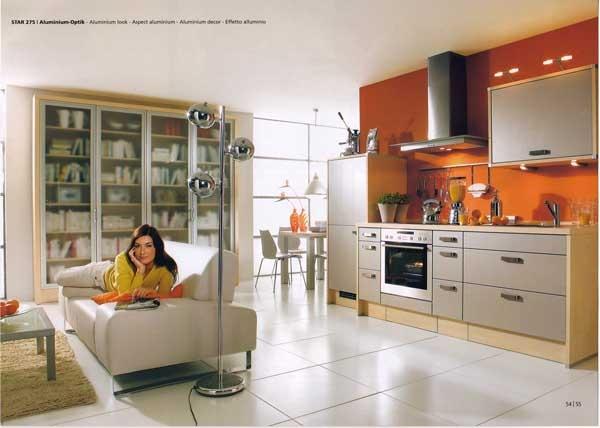 No walls, no barriers!Kitchens Design, Orange Kitchens, Kitchens Pictures, Kitchens Ideas, Kitchens Islands, Modern Kitchens