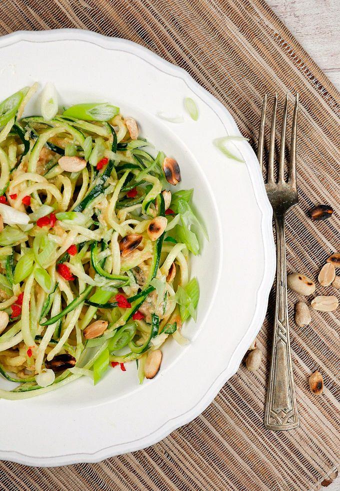 Asiatische Zucchininudeln Low Carb - Gesund und lecker! Gaumenfreundin.de Foodblog