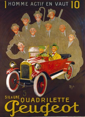 Affiches anciennes velos_ voitures