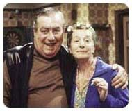 Hilda and Stan Ogden of Coronation Street  - back when it was good! (article on Ado's blog)