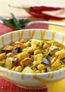 Recette de Curry d'aubergines et de pois chiches
