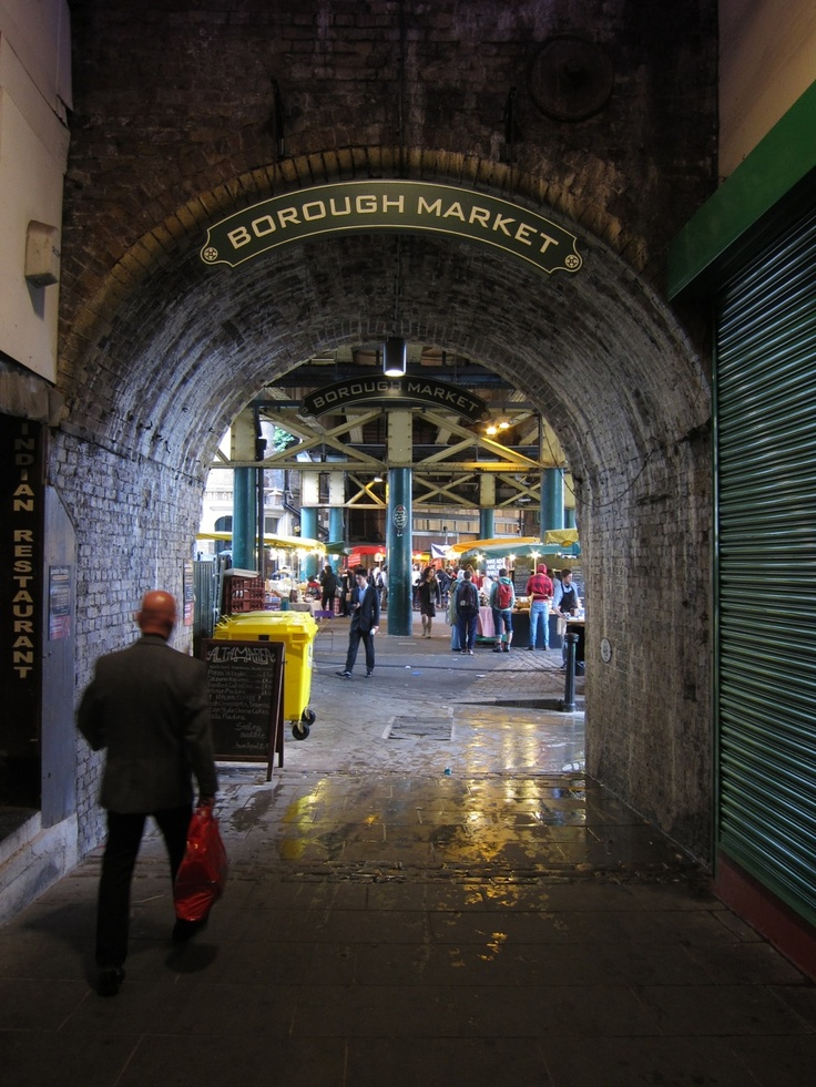 Borough Market.  A must see in London!  Such a wide variety of food and drink.