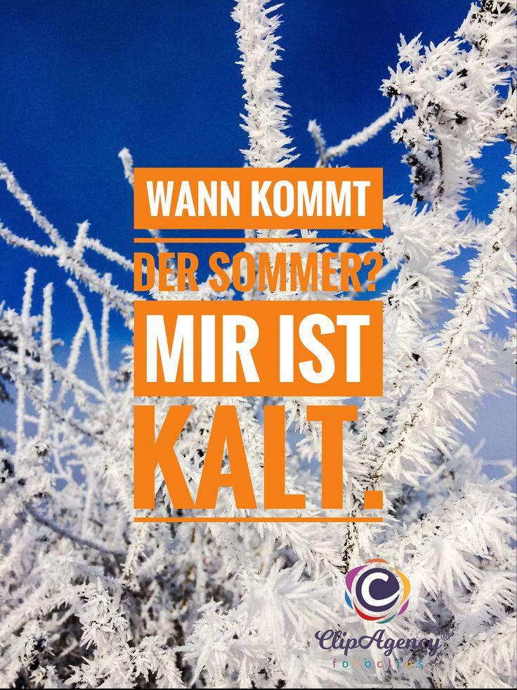 Wann kommt der Sommer? Wir lieben den Winter. Aber wenn wir ihn dann haben, wollen wir wieder Sommer. Ist nun mal so.
