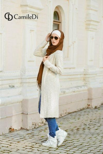 Fashion hijab jeans