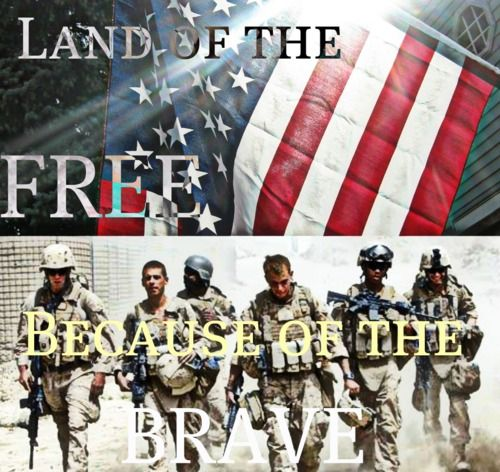 Land of the free, because of the brave!