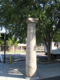 The Haunted Pillar of Augusta, Georgia. I've taken pictures standing next to it, but I would never touch it.