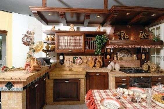 Idee per arredare la cucina in stile rustico nel 2019   Kombuise ...