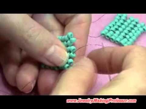 Herringbone Stitch how to ~ Seed Bead Tutorials