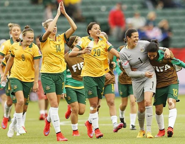 Congratulations to The Matildas on drawing 1-1 with Sweden in Canada. Aussies into the next stage of the Fifa Women's World Cup! Go Matildas!!!