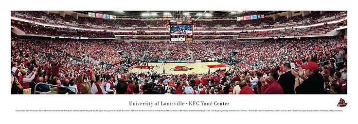 University of Louisville - Basketball Cardinals - Kfc Yum Center Panoramic Picture