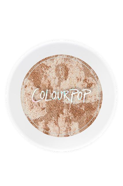 This tie-dye highlighter from ColourPop has gorgeous Champagne and gold hues running through it that flatter a range of skin tones. Dust it on with a brush for a sheer veil of color or tap it on with your fingers for a more intense effect. ColourPop Churro Highlighter, $8, available at ColourPop. #refinery29 http://www.refinery29.com/affordable-highlighter-makeup#slide-8