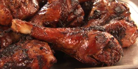 BBQ Turkey Drumsticks with Chipotle Glaze from Chuck's Day Off