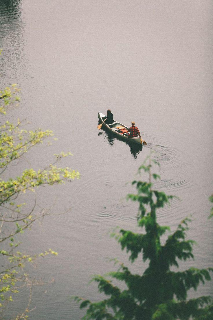 plaid / canoes / mountain lakes