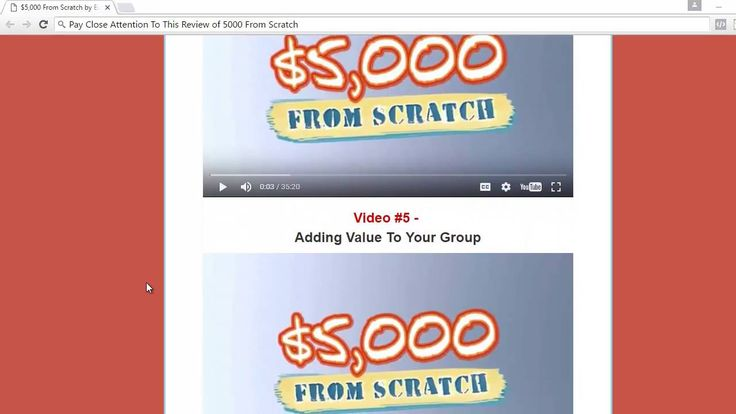 $5000 From Scratch Members Area Review A good start for newbie who are interested to make money online with zero or little investment. It is a very good product worth for its value. More information at http://bit.ly/2bUA34v