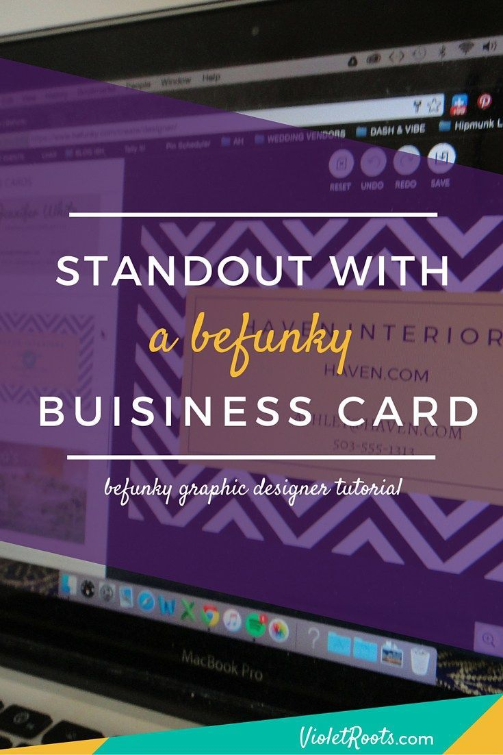 Standout with a BeFunky Business Card - Standout with a BeFunky business card made with the affordable BeFunky graphic design software. Make a design that represents your unique talents and biz! www.violetroots.com/