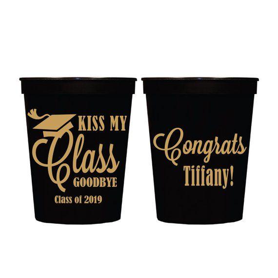Kiss My Class Goodbye Stadium Plastic Cups