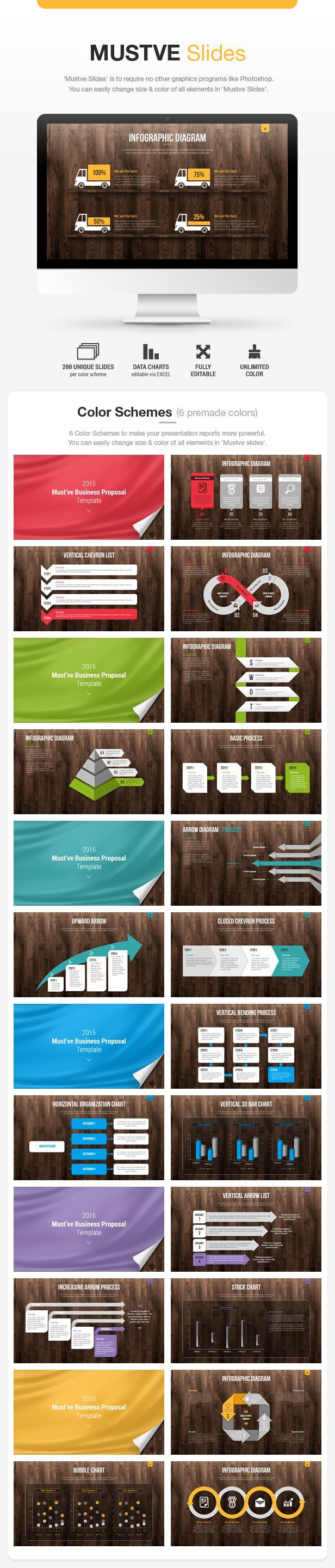 Mustve Slides - Business Powerpoint Templates design / graph / diagram / icon / keynote / infographic