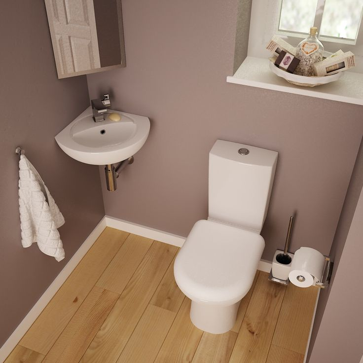 Make the best use of a small space with a wall mounted corner basin