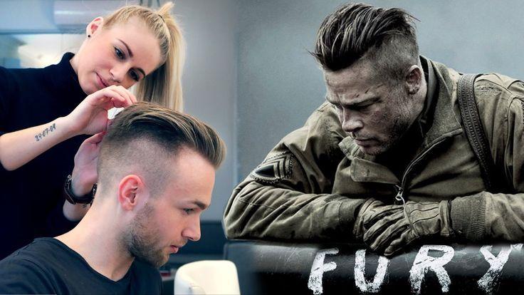 Brad Pitt Hair From Fury Professional Guide Men S Undercut Pinbilder Frisuren Barte Und Haare Frisur Und Bart