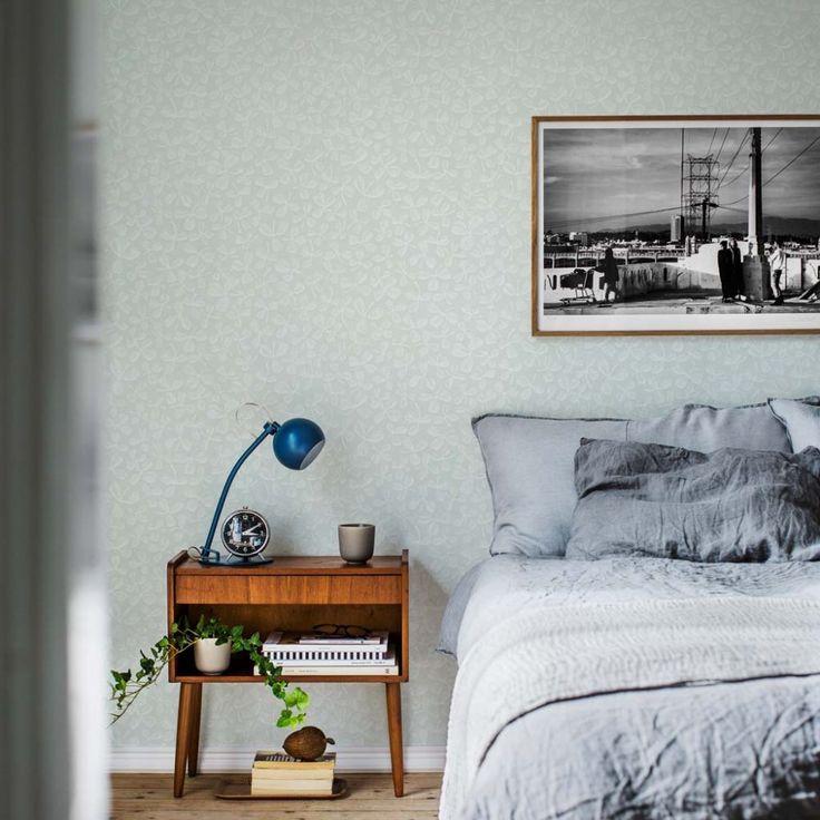 wallpaper Hella turqouise, design Joy Zandén