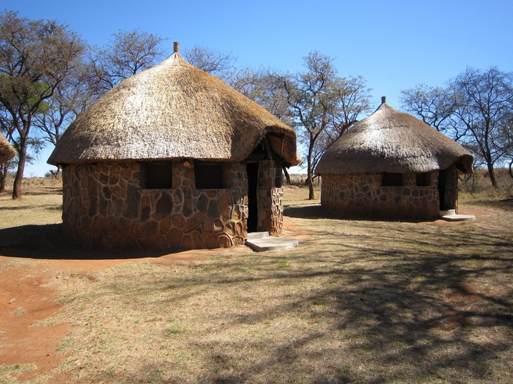 Huts for school kids to spend time at Imire Safari Ranch, Zimbabwe