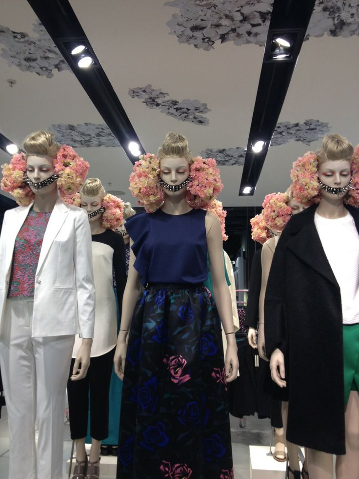 Topshop, Oxford Circus, London, we can hear the arrival of SPRING, pinned by Ton van der Veer