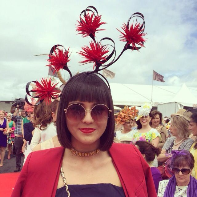 Wired headpiece by Emily O'Regan Millinery