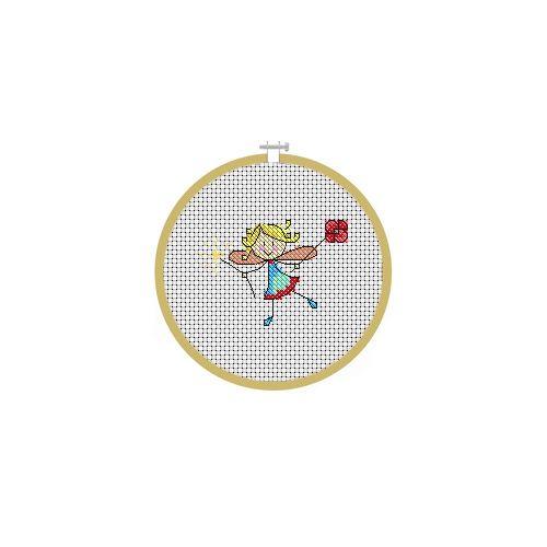 August Fairy Cross Stitch Pattern